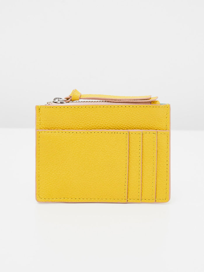 White Stuff Slogan Cardholder - Yellow
