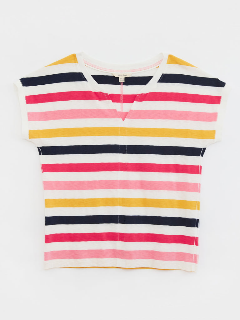 White Stuff - Nelly Notch Neck Tee Pink