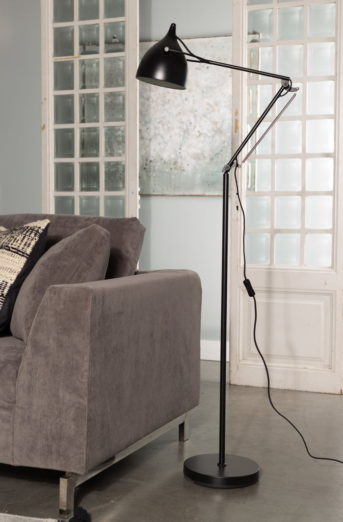 Matt Black Reader Floor Lamp