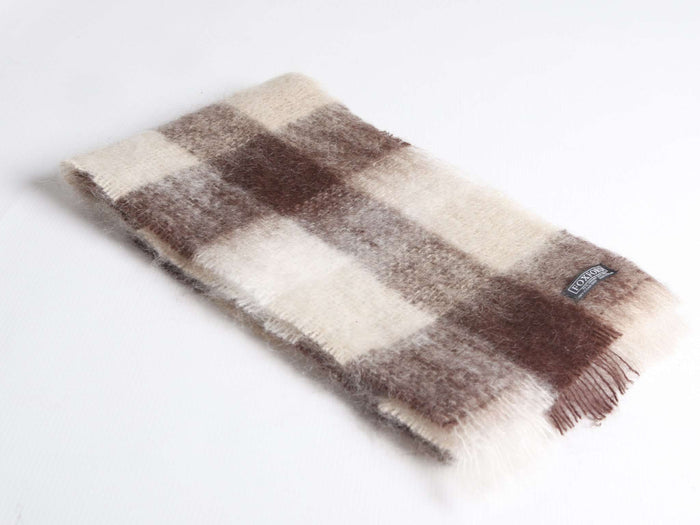 Foxford's Sand, Chocolate & White Mohair Scarf