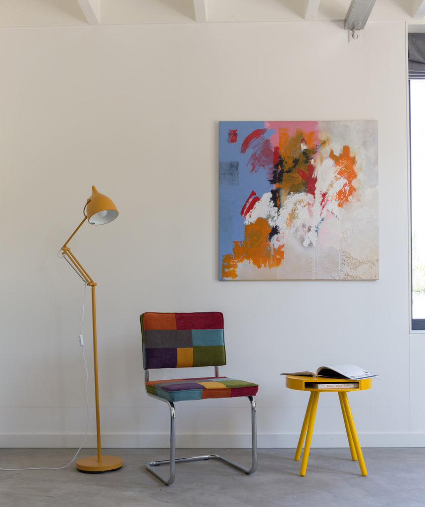 Reader Floor Lamp - Matt Yellow