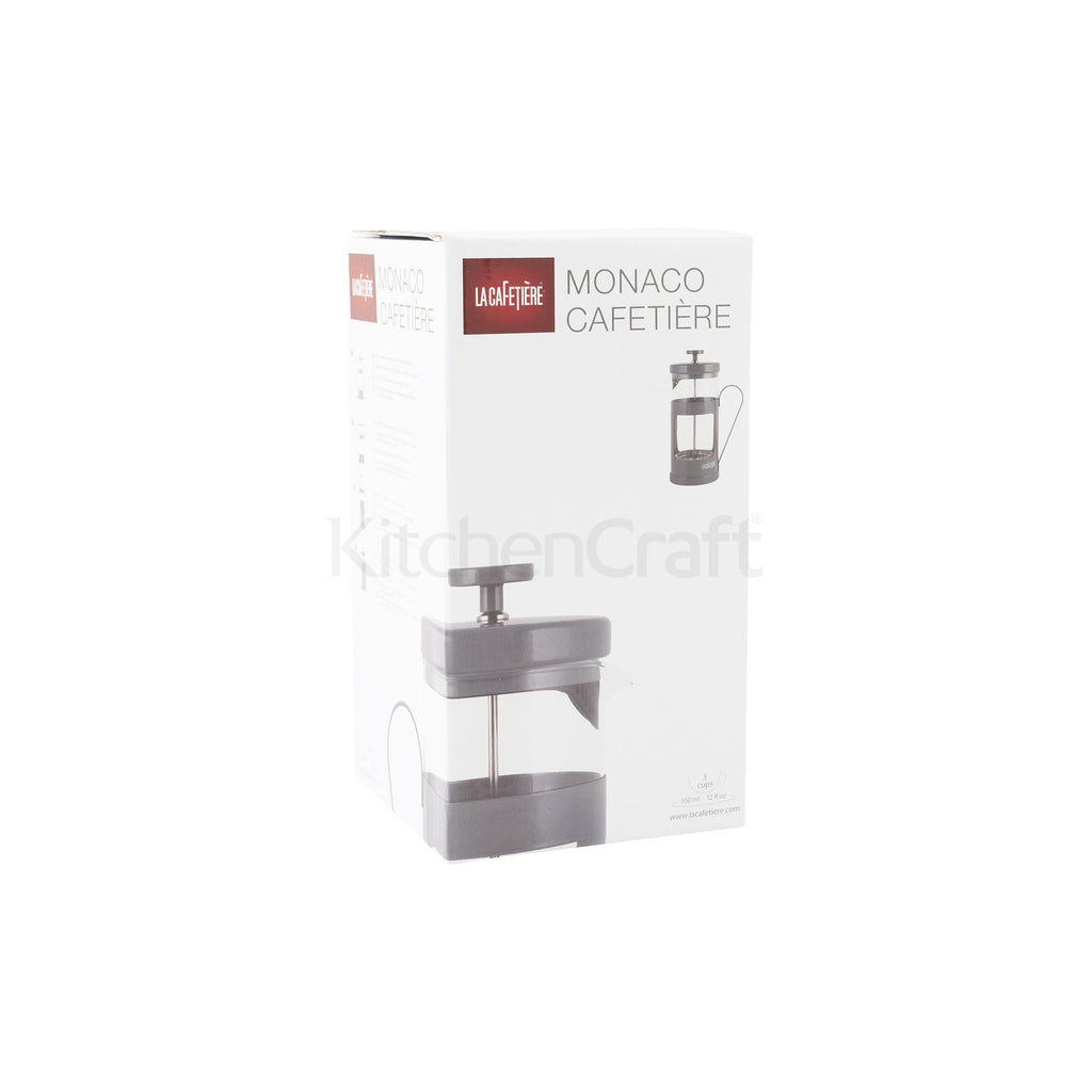 Cool Grey Monaco 3 cup Cafetiere