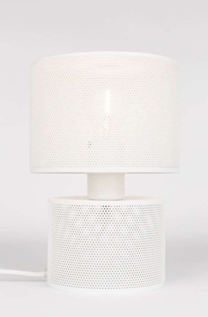 Grid Table Lamp - White