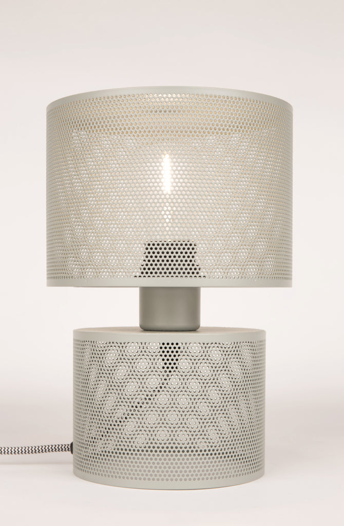 Grid Table Lamp - Grey