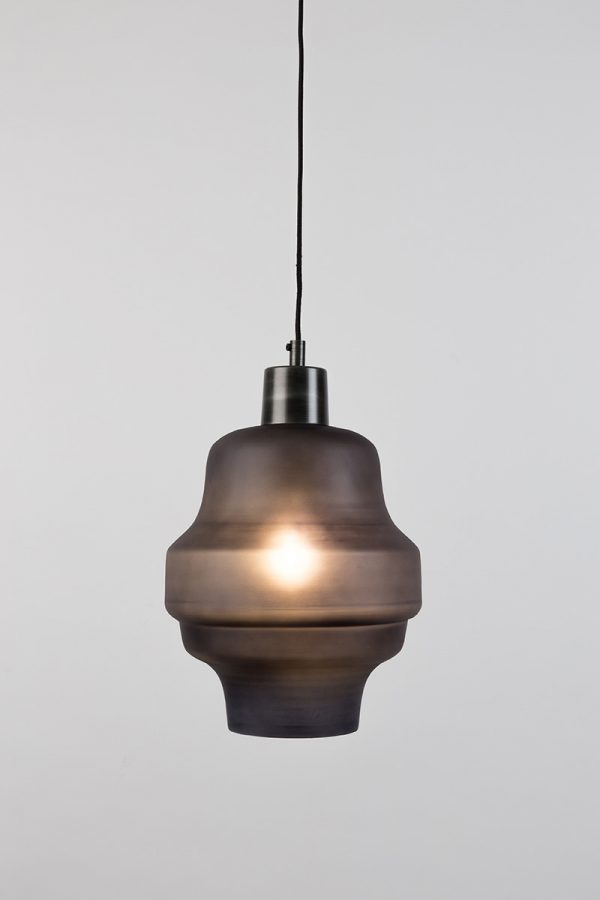 Frosted Pendant Light - Dark Grey