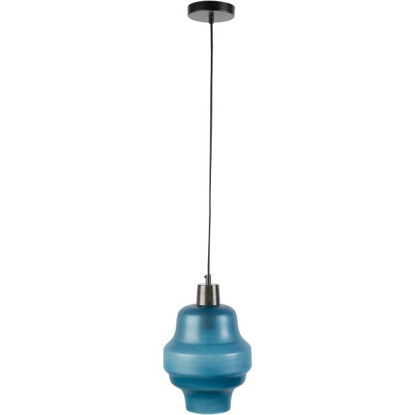 Frosted Pendant Light - Blue