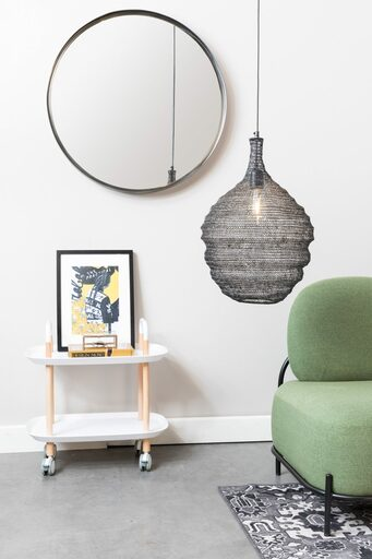 Medium Mesh Metal Lamp - Black