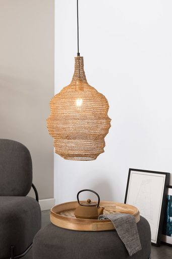Medium Lena Pendant Lamp - Brass