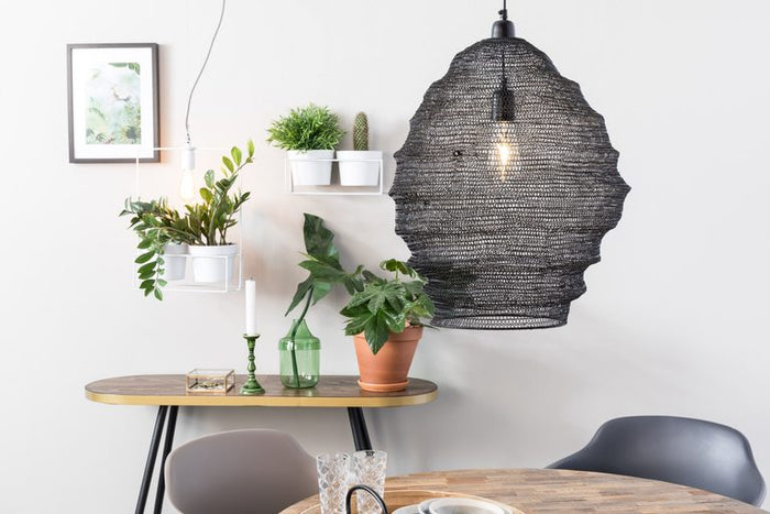 Large Lena Pendant Lamp - Black