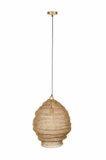 Large Lena Pendant Lamp - Brass