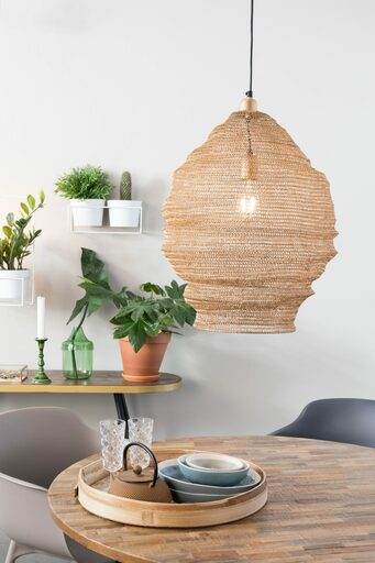 Large Mesh Metal Lamp - Brass