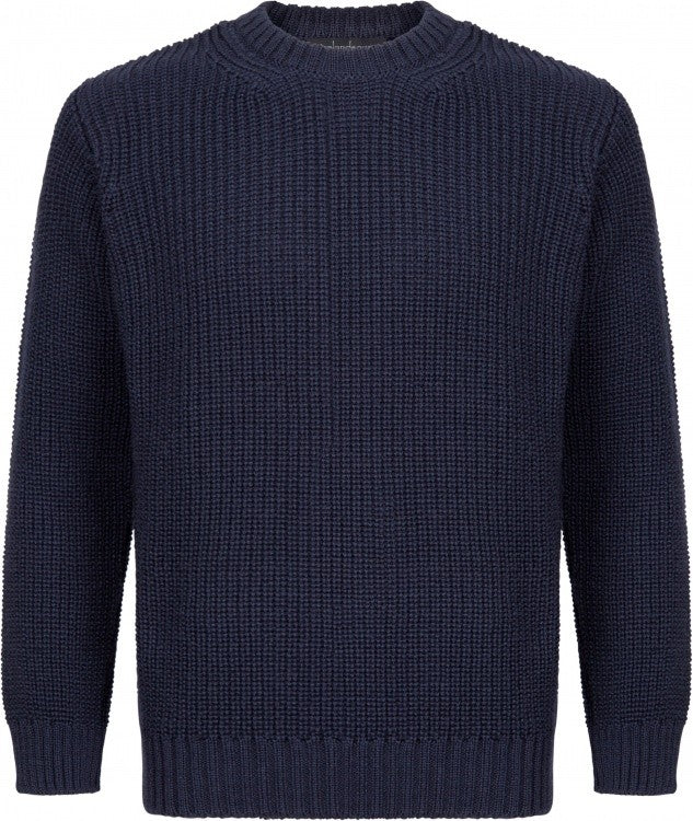 Crosshaven Ribbed Crew Neck - Navy