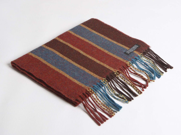 Foxford's Red & Mayo Blue Lambswool Scarf