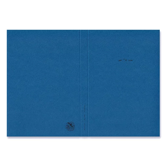 Get **It Done Handmade Recycled Paper Notebook - Blue A5