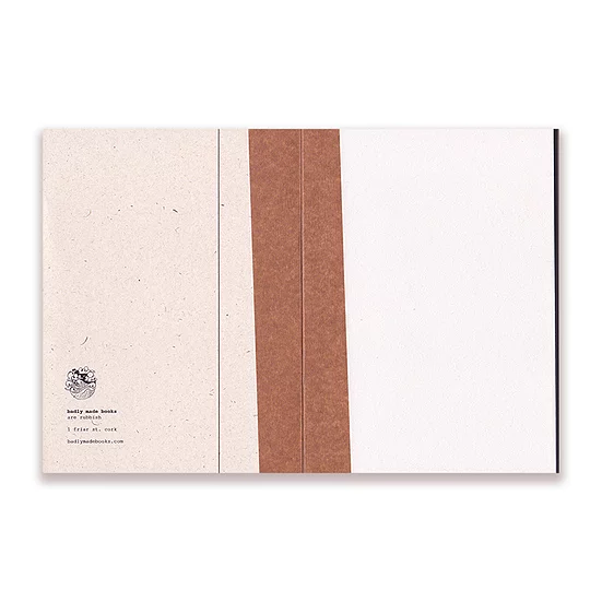 Naked Handmade Recycled Paper Notebook A5