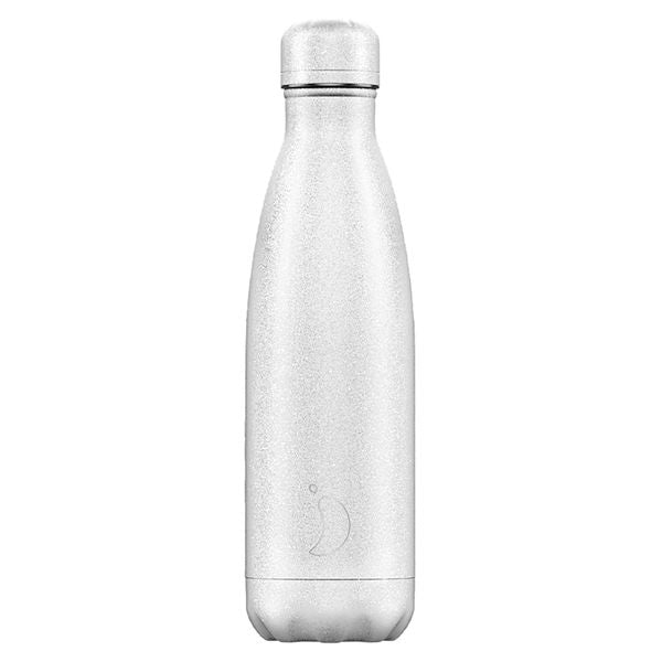 Chilly's Water Bottle Glitter White - 500ml