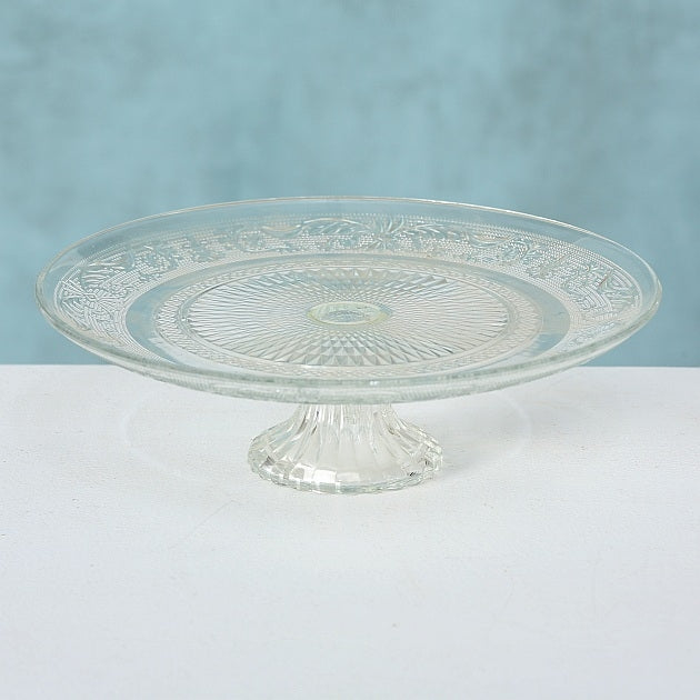 Glass Cake Plate Relief