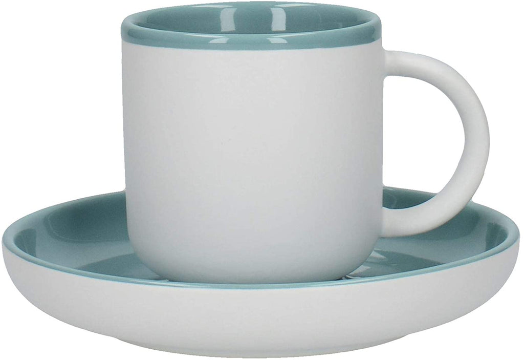 Barcelona Retro Blue Espresso Cup and Saucer