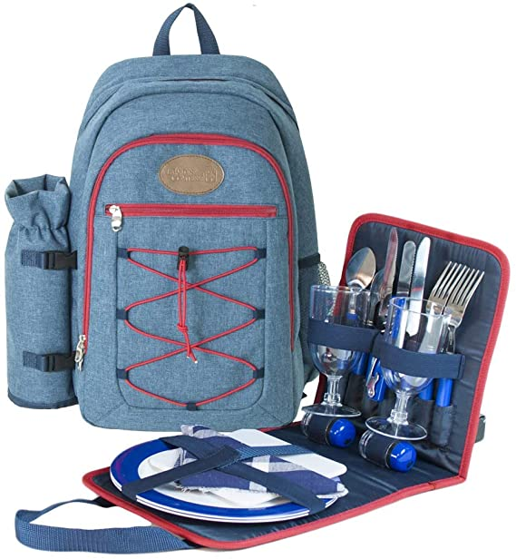 "Picnic backpack ""Urban Trekking"" Red 2 People"