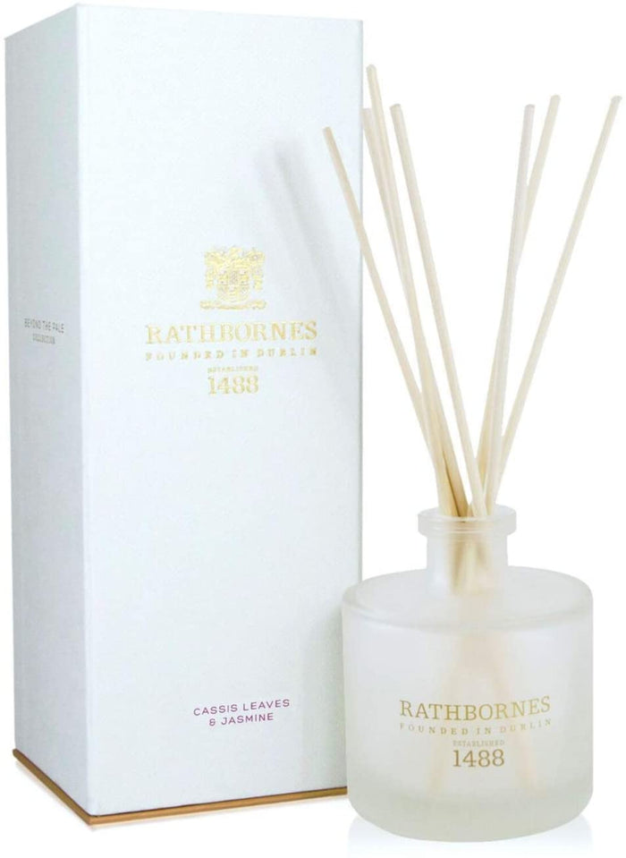 Rathbornes Cassis Leaves and Jasmine Scented Reed Diffuser