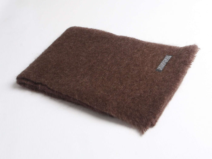Chocolate Mohair Scarf