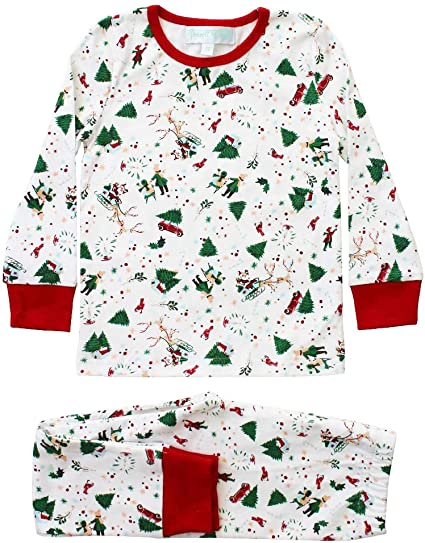 Christmas Print Cotton Knit Pyjamas