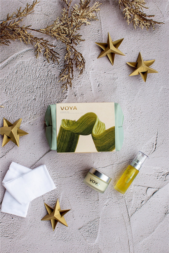 Voya Vitamin Sea Set, Gift Set in Pouch Bag