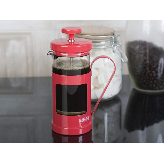 Monaco 8 Cup Cafetiere Red