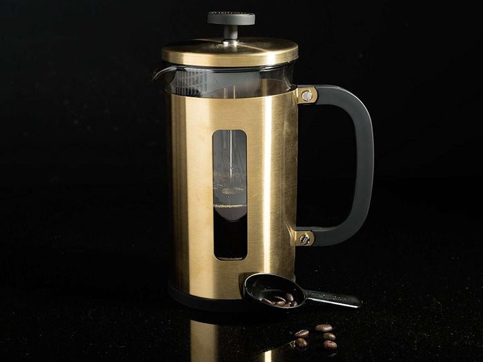 Brushed Gold Stovetop Espresso Pot