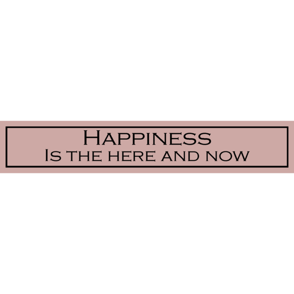 Happiness Is The Here And Now - Wit With Wisdom
