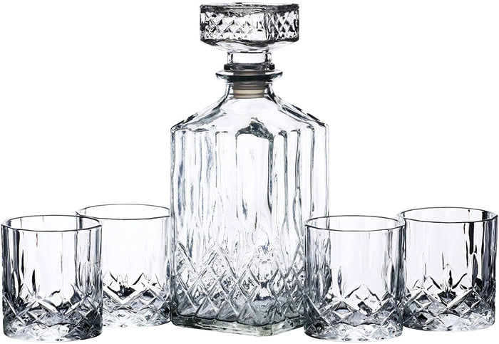 Cut Glass Decanter Set