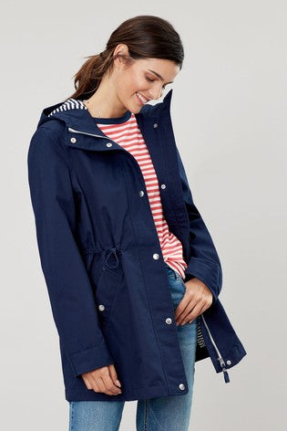 Joules Shoreside Jacket With Stripe Jersey Lining - Navy