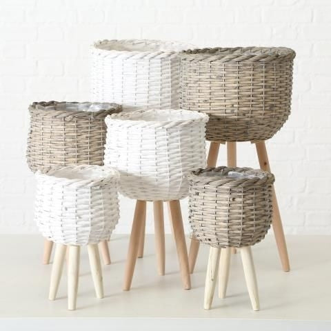 Neutral Woven Plant Pot Stand