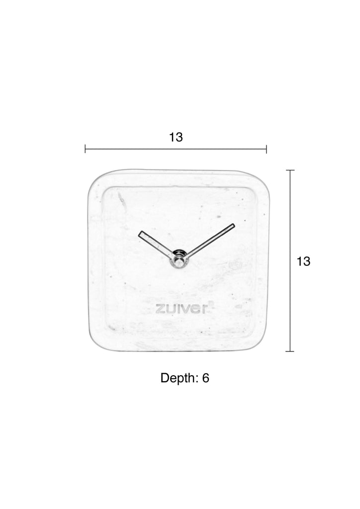 Marble Time Luxury Clock - White