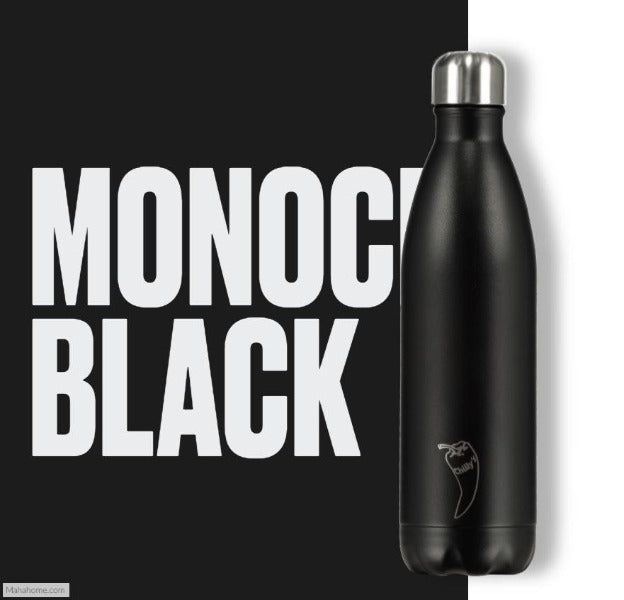 Chilly's Mono Black Bottle - 750ml