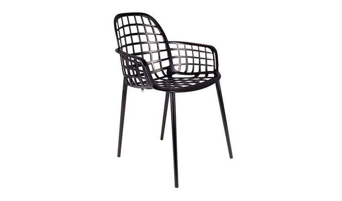 Albert  Kuip Garden Chair - Black & Green