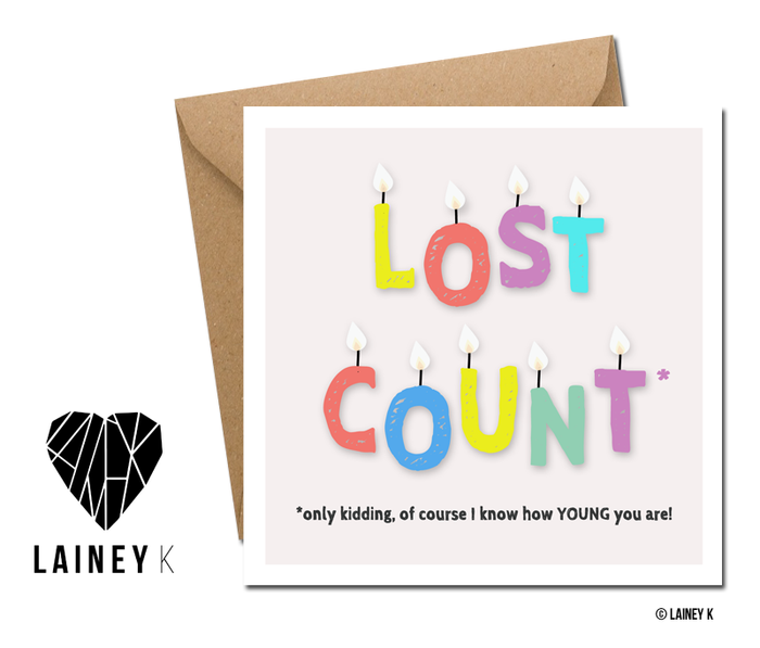 Lost Count - Greeting Card