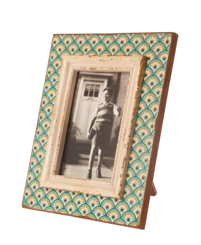 Aqua Boudoir Stamp Photo Frame