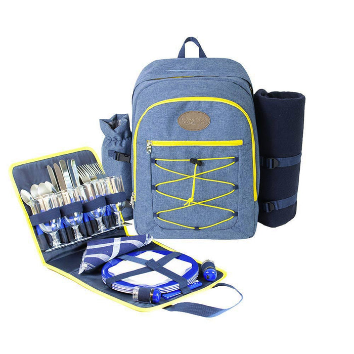 "Picnic backpack ""URBAN TREKKING"" Yellow for 4 people"