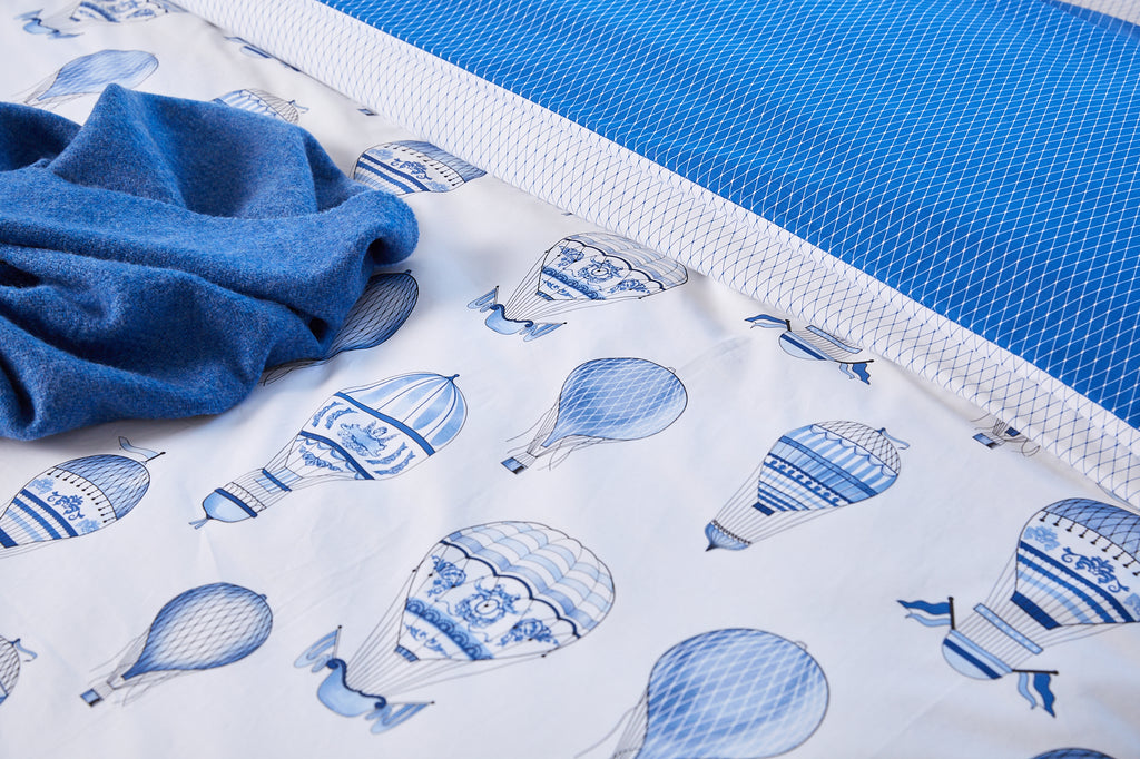 Blue Balloon Duvet Set