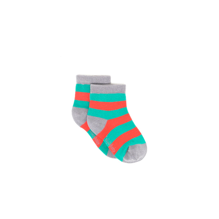 Bamboo Green & Red Stripe Seam-Free Socks