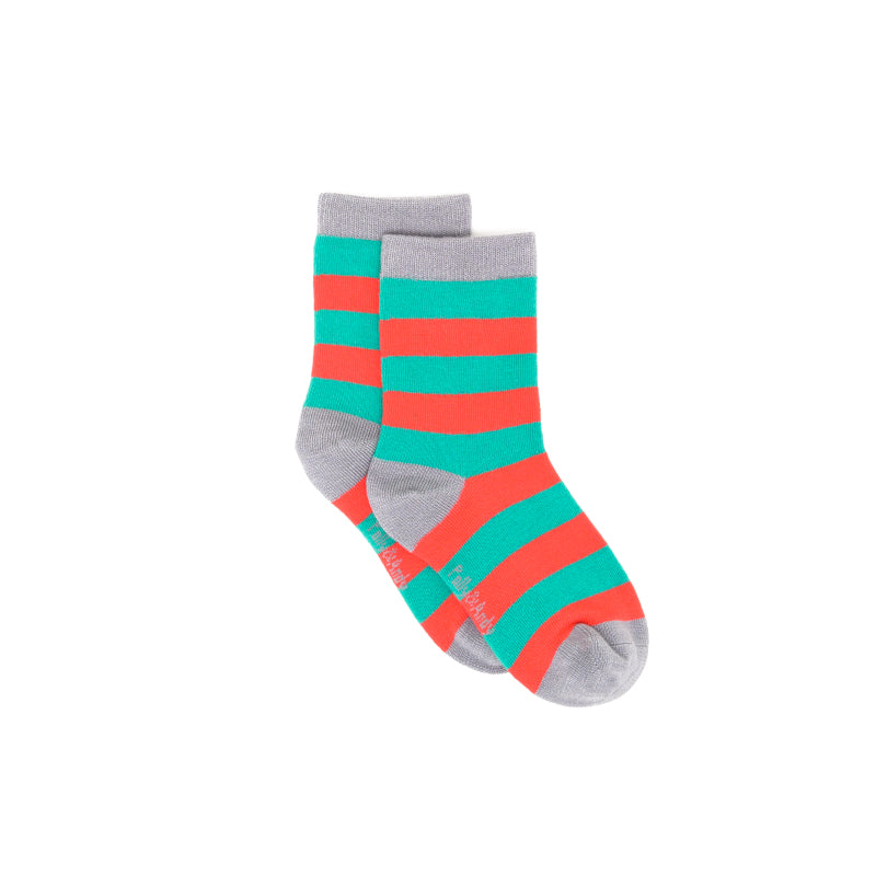 Bamboo Christmas Stripe Seam-Free Socks