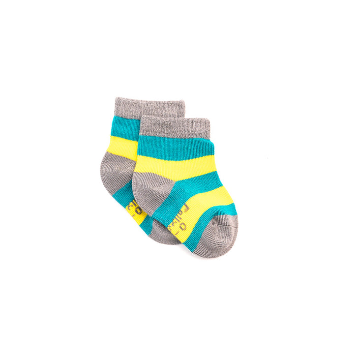 Bamboo Seam-Free Green & Yellow Stripe Socks