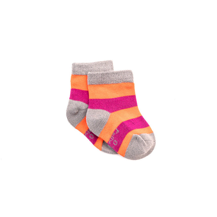 Bamboo Seam-Free Pink & Purple Stripe Socks