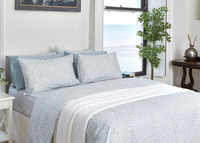 Aqua Leaf Duvet Set