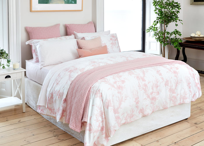 Pink Floral and French Cane Bed Bundle