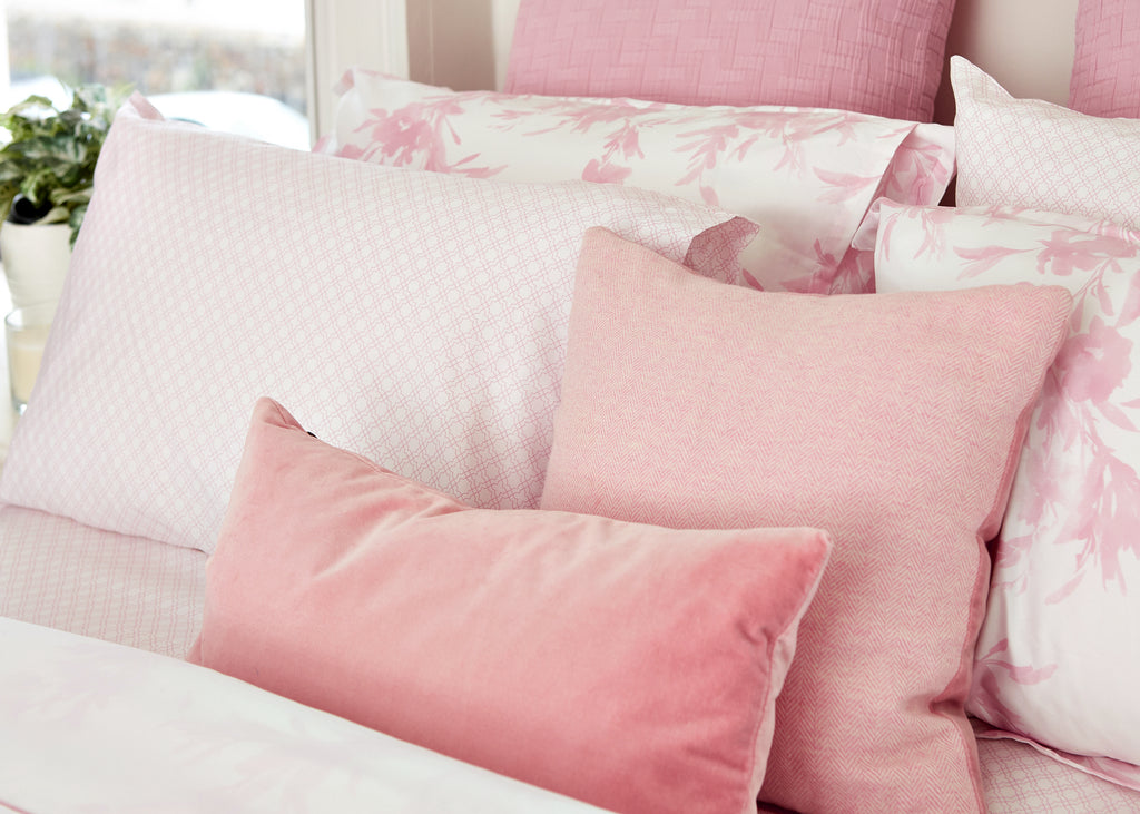 Pink Floral Oxford Pillowcase - Pair