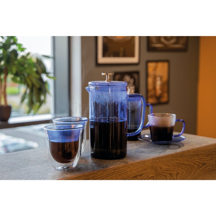 Blue Double Walled Glasses