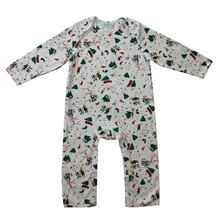 Christmas Print Jumpsuit