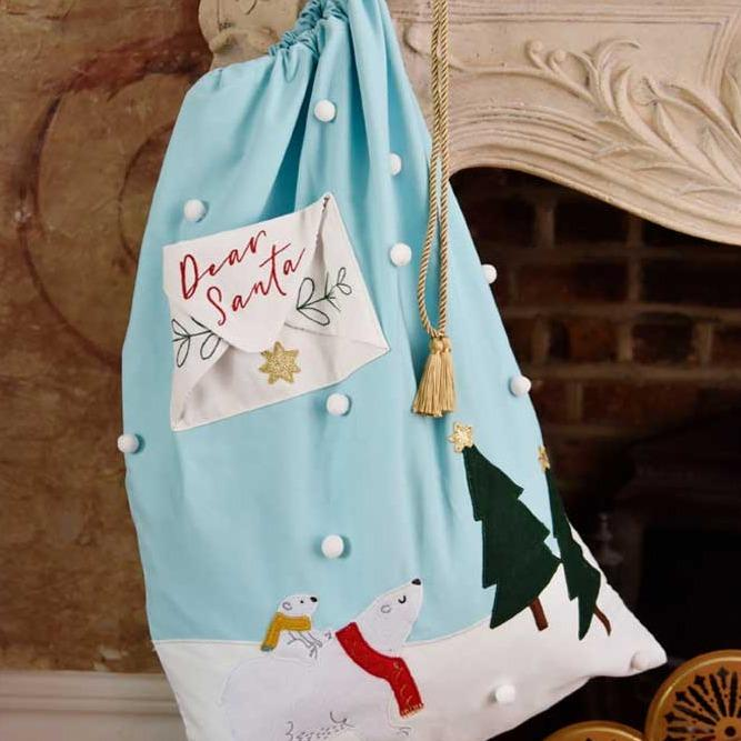 Polar Bear Christmas Sack